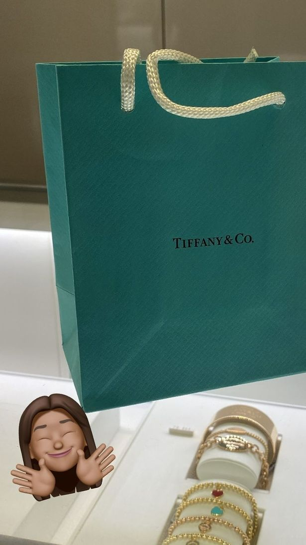 The model was gifted a treat from Tiffany and Co.