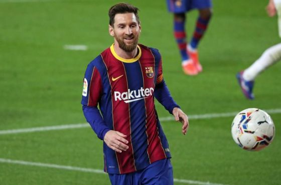 NurPhoto played through PA Images Leo Messi during the match between FC Barcelona and SD Huesca, according to week 27 of the Liga Santander, at Camp Nou Stadium, on March 15, 2021, in Barcelona, Spain.  - (Photo by Urbanandsport / NurPhoto)