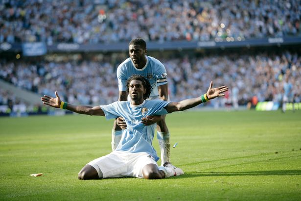 Emmanuel Adebayor's iconic celebration against Arsenal was probably his only memorable moment in a City shirt