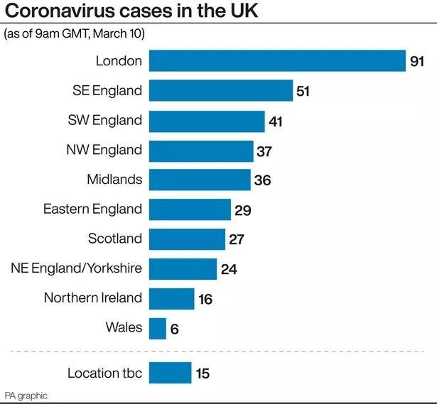 Map shows how coronavirus Covid-19 has spread across England ...