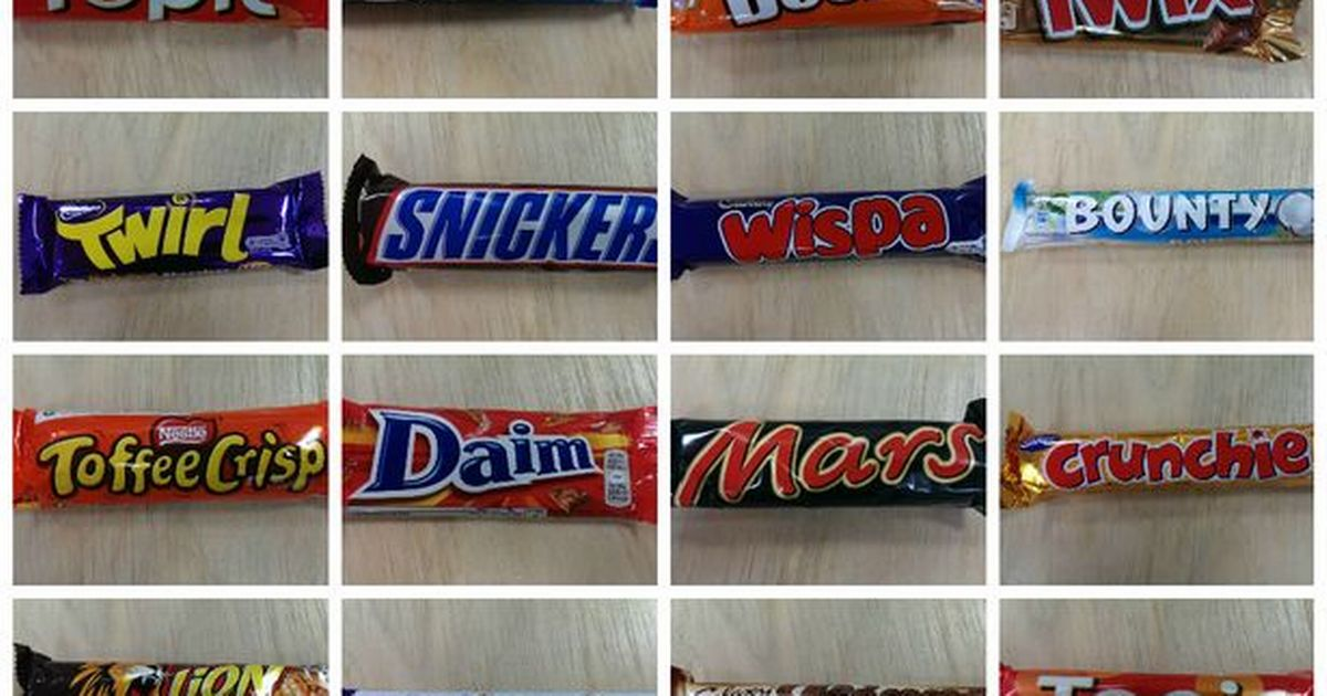 Name That Chocolate Bar Can You Recognise The Bar WITHOUT