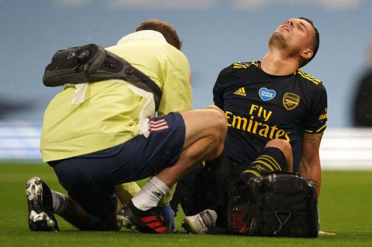 Arsenal suffer double injury blow as Granit Xhaka and Pablo Mari ...
