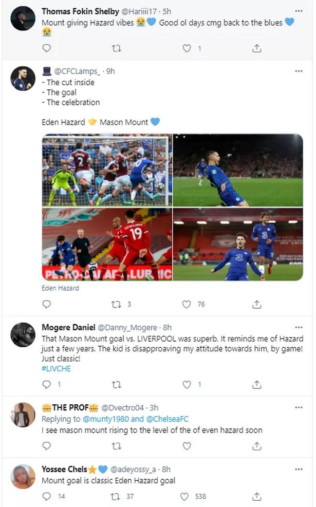 Chelsea fans draw comparisons between Mount and Hazard