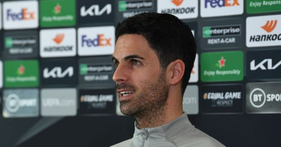 Every word Mikel Arteta said about Bellerino's future, Arsenal's front three and clean sheets