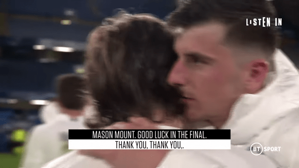 Luka Modric has wished Mason Mount well in the Champions League final. (Image: BT Sport)