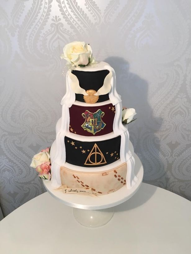 Magical Harry Potter wedding cake creation on display at west end shop  Glasgow Live