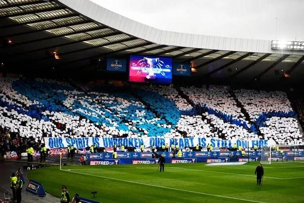 Image result for rangers fans display