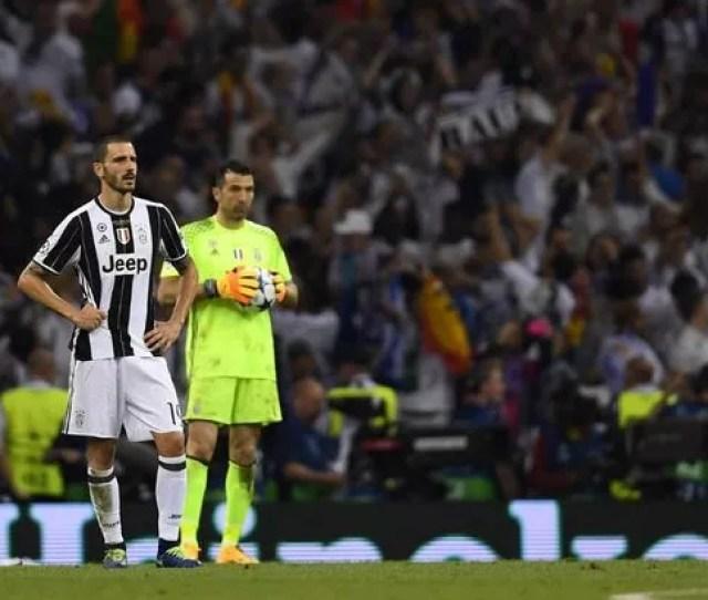Leonardo Bonucci Looks On Dejected As Juventus Are Defeated By Real Madrid Image Shaun Botterill