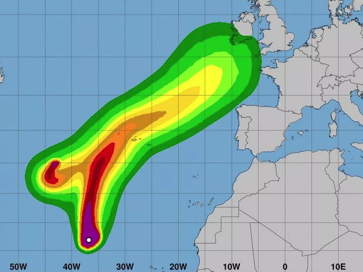 hight resolution of ireland weather forecast hurricane helene now on course for ireland as met eireann warn of very disturbed weather irish mirror online