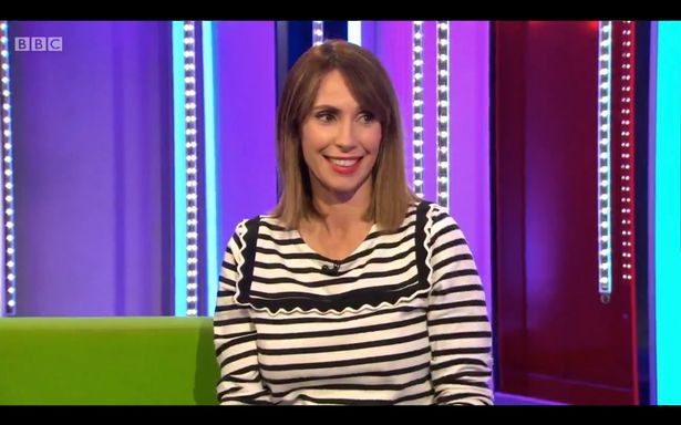 Alex announced her pregnancy on The One Show