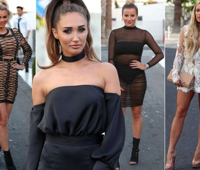 The Towie Babes Flaunt Their Bronzed Limbs In Seriously Sexy Outfits As They Continue Filming In Tenerife
