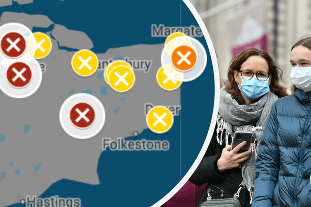 Kent coronavirus: Map shows how COVID-19 fears have affected Kent ...