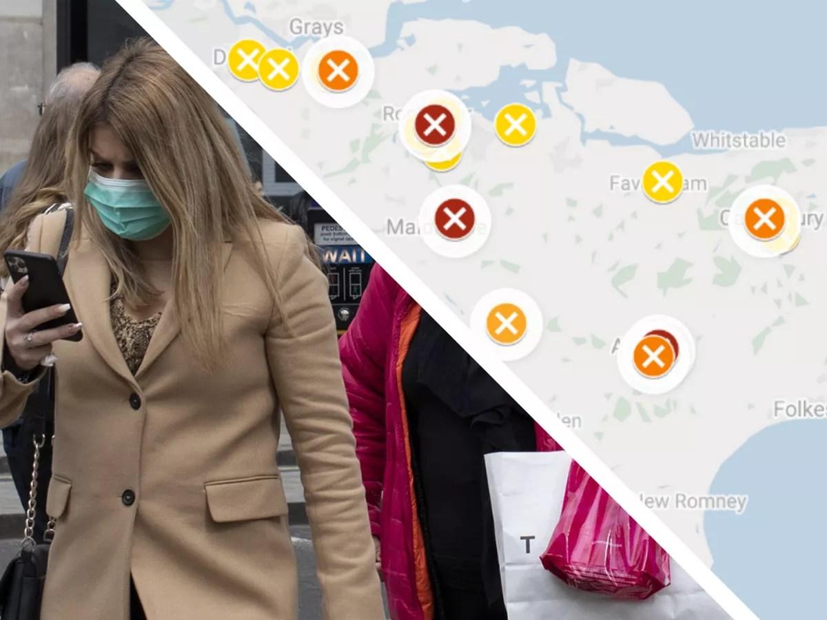 Kent coronavirus: Latest map shows spread of COVID-19 across the ...