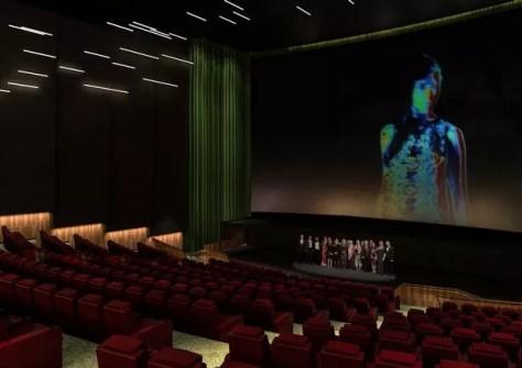 A CGI of a multi-functional auditorium