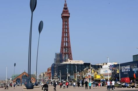 A general view taken in Blackpool