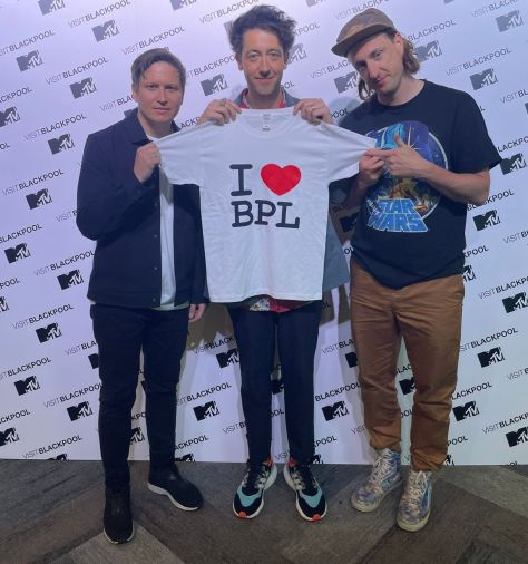 The Wombats arrive for the Blackpool Illuminations Switch-On