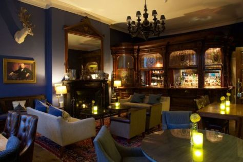 A view of the bar at Storrs Hall Hotel
