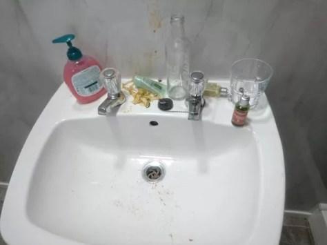 Vomit in the sink