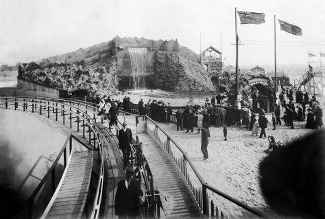 Bicycle railway and River Caves at Blackpool Pleasure Beach