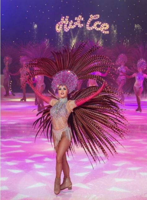 One of the world-class Skaters at Blackpool Pleasure Beach's Hot Ice Show