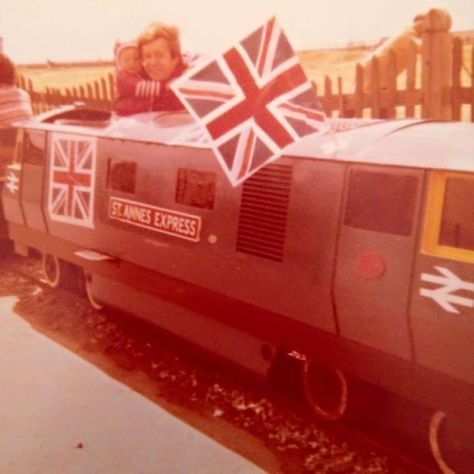 Stuart Mann on the St Anne's Express in 1977