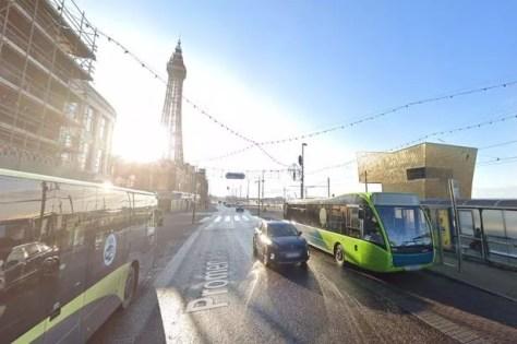 Buses on Blackpool Promenade