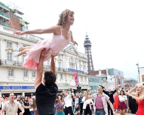 """The Dirty Dancing """"flash mob"""" in Blackpool"""