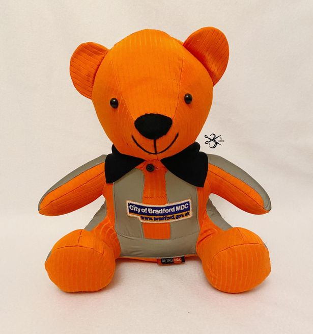 This memory bear will be with the baby when they are laid to rest