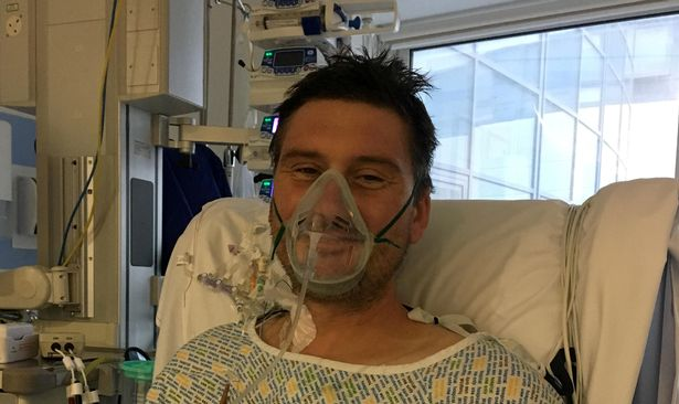Adam Martin admitted to intensive care at Derriford hospital.