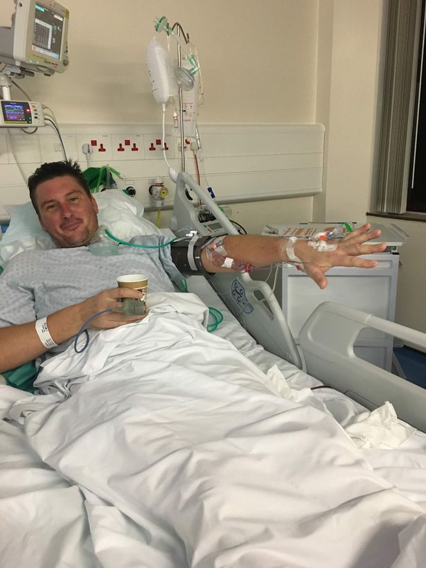 Adam Martin, 41, ended up needing open heart surgery after having a potentially fatal blood infection - from a piece of popcorn stuck between his teeth.