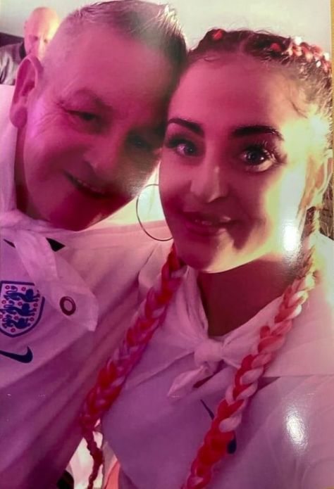 Jessica Gibson, 31, from Banbridge in County Down, Northern Ireland, who died on a night out in Liverpool, pictured with her father Andy Gibson