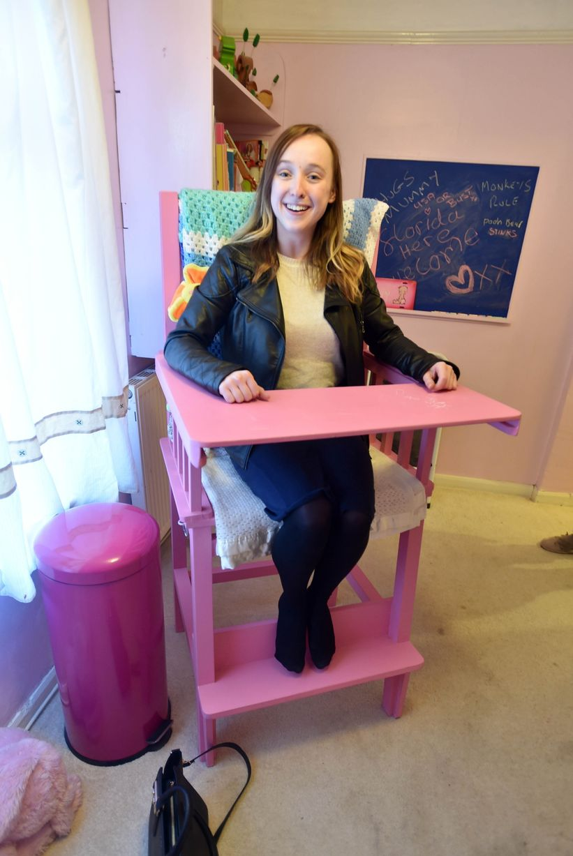 adult baby high chair office posture tips interior of an nursery in bootle liverpool echo reporter alisha rouse sits the highchair