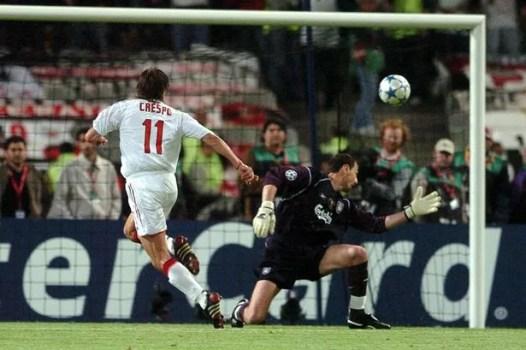 Image result for hernan crespo ac milan champions league goal