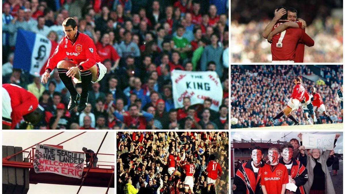 Où le jeune eric cantona marquait le championnat de son talent. Manchester United 2 2 Liverpool Eric Cantona S 1995 Comeback Manchester Evening News