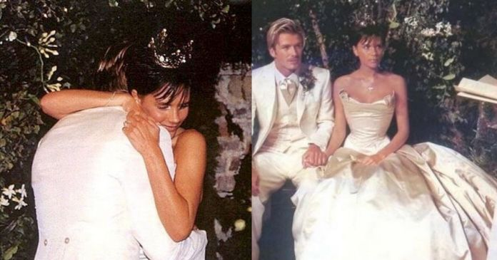 Image result for David and Victoria Beckham wedding