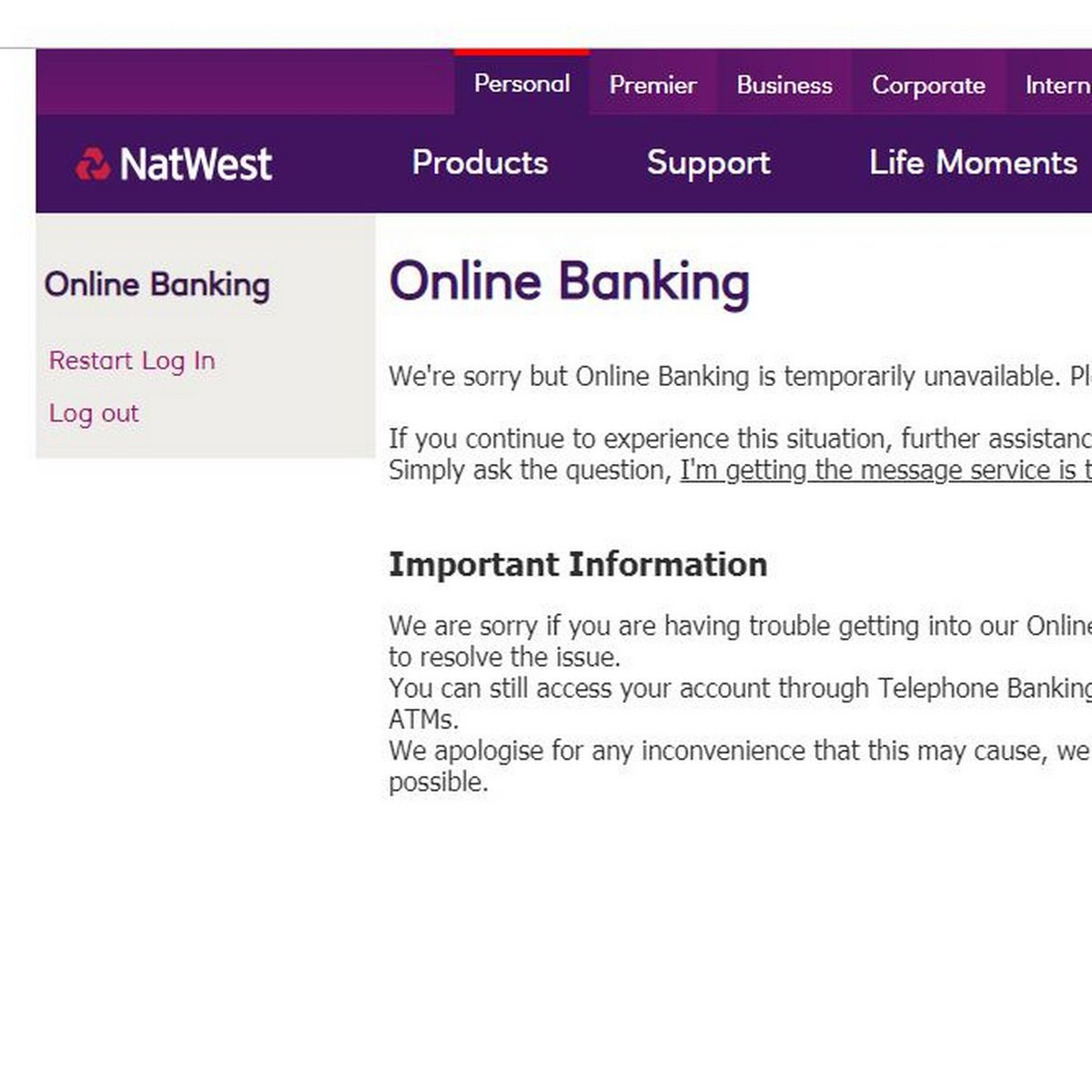 Natwest And Rbs Online Banking Is Down Leaving Customers Locked Out Of Accounts Manchester Evening News