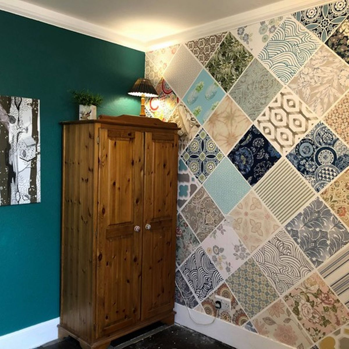 How To Create A Striking Feature Wall On A Budget By Using Wallpaper Samples Manchester Evening News
