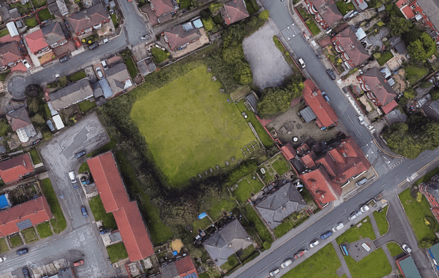 The bowling green on Higson Avenue, behind the Rock House pub in Peel Green Road, Eccles