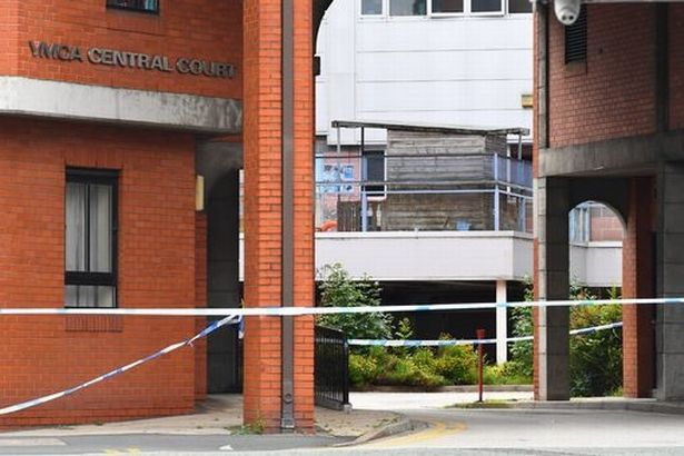 Police cordoned off the YMCA on North Road.