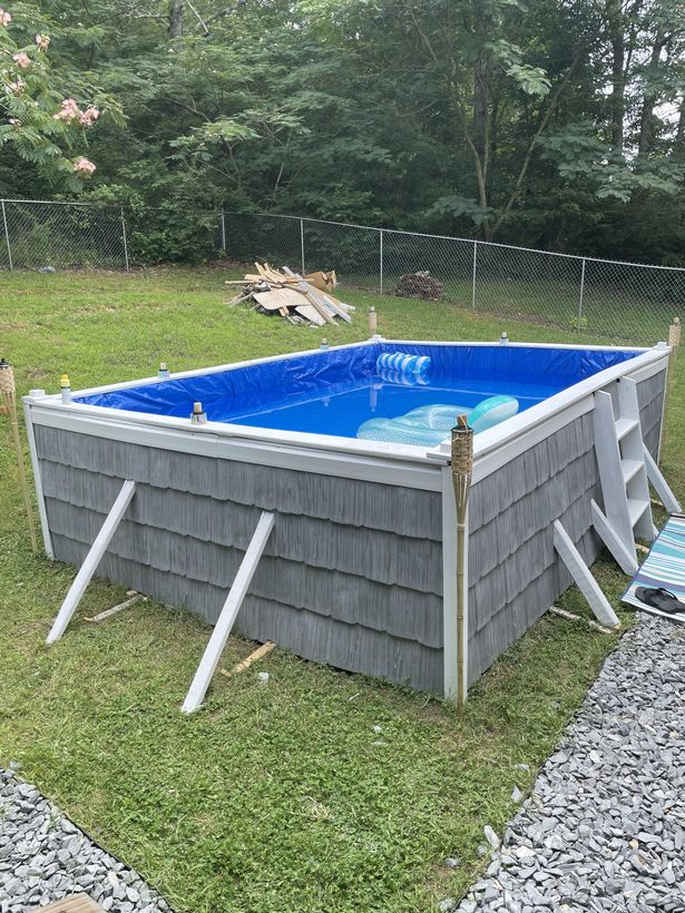 Ready-made swimming pool.