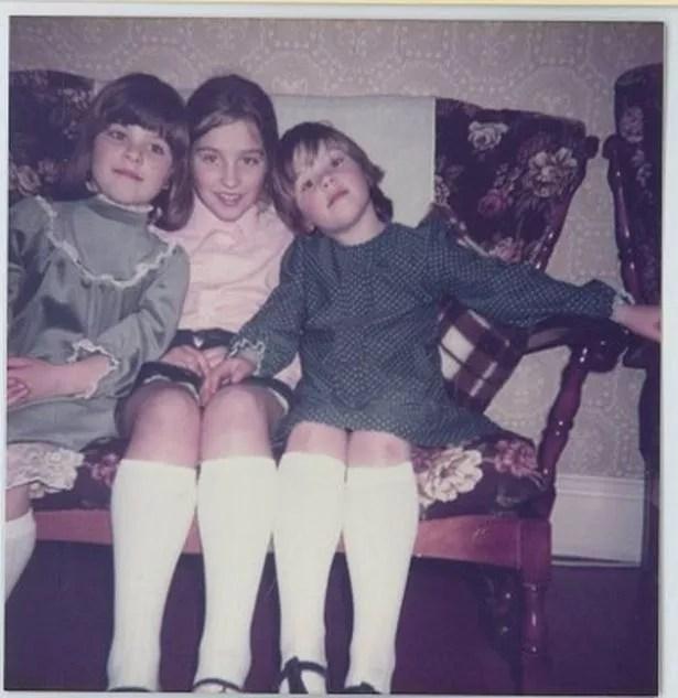 Becky (left), Rachel (Beach), and Sarah (right) in 1984.
