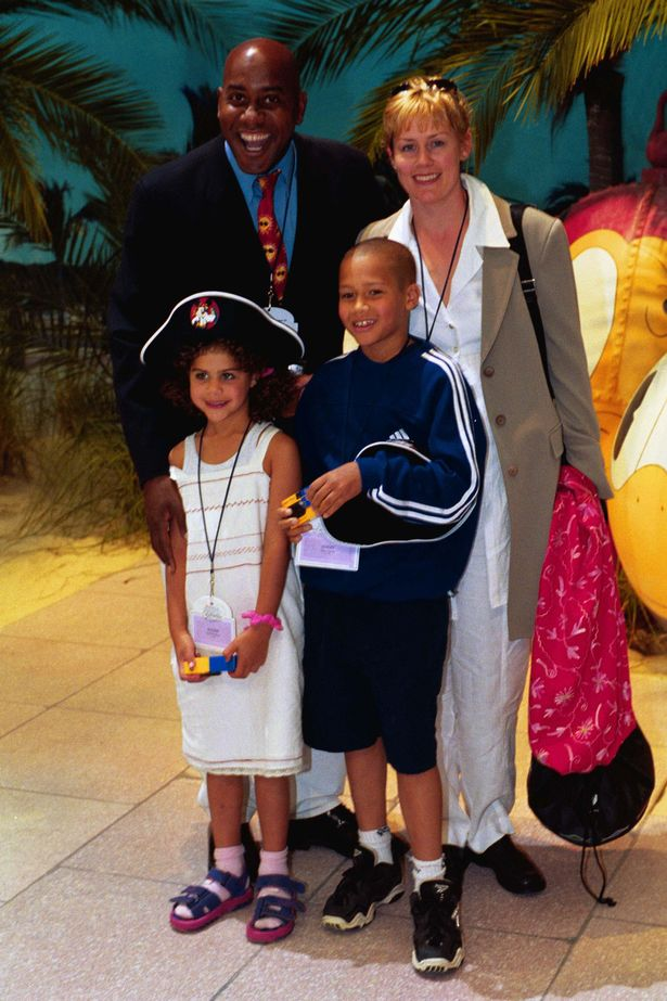 TV chief Ainsley Harriott with his family on a Disney cruise