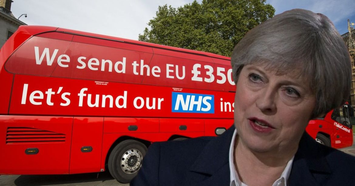 Theresa May admits £350 million pledged to NHS by Vote Leave isn't happening