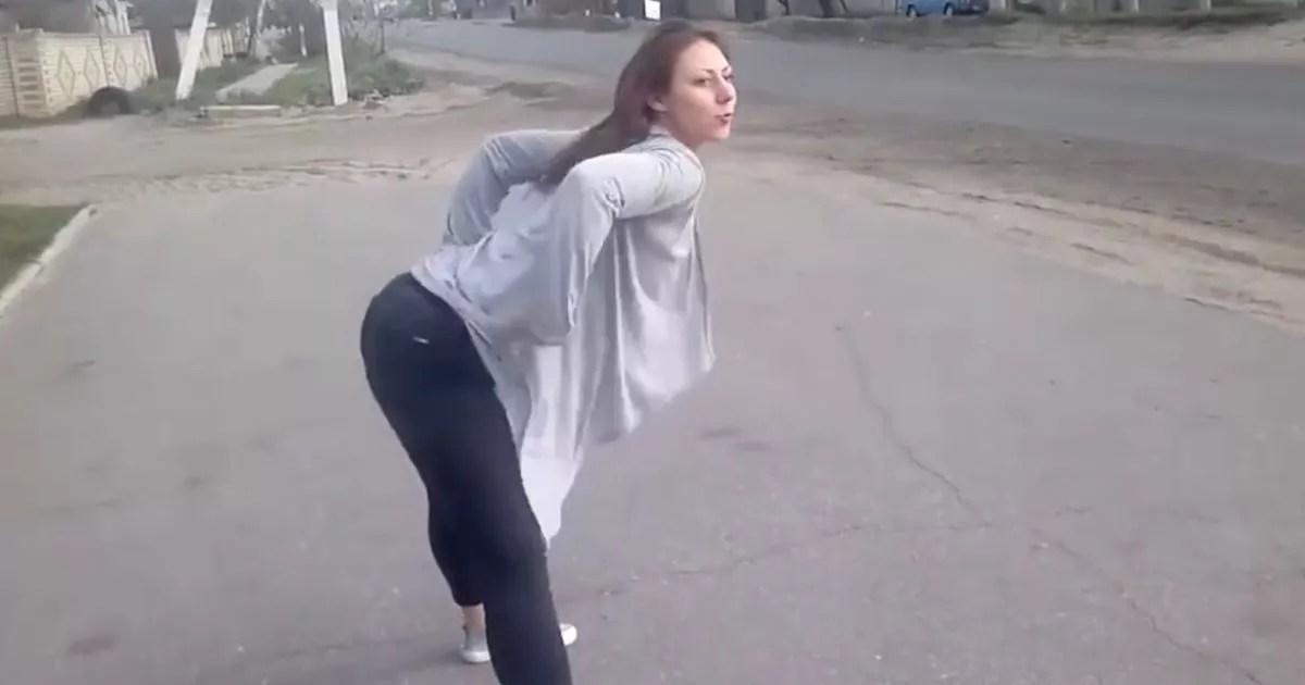 Twerking girl causes headon crash between car and