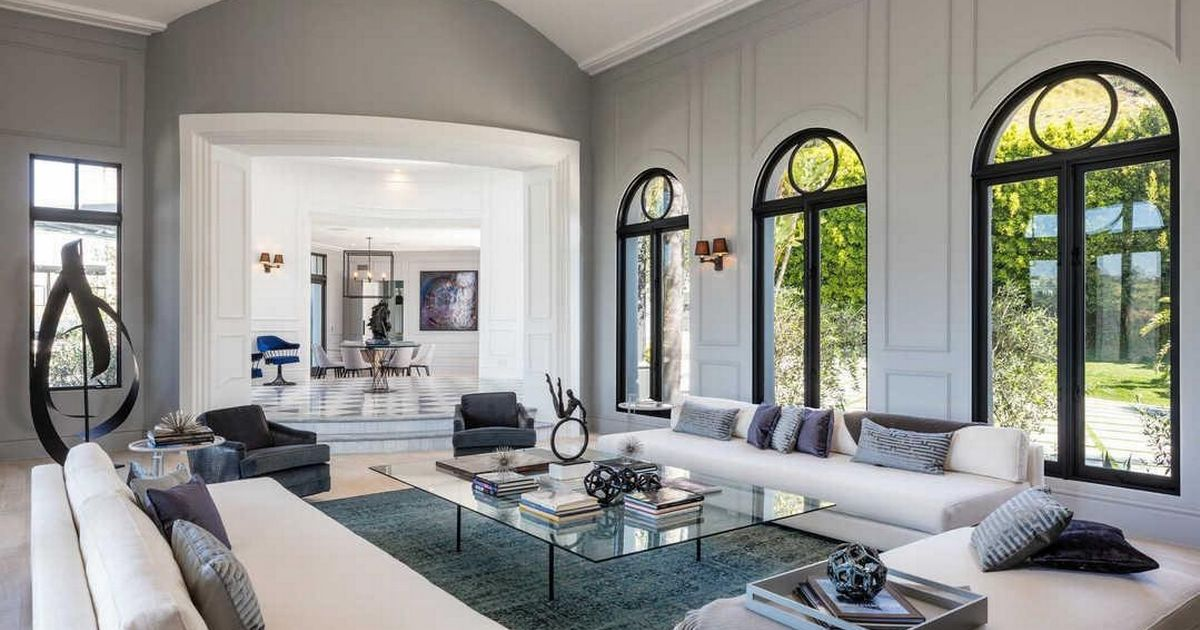living room cheap partition inside kylie jenner's beverly hills mansion that's just ...