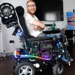 Wheelchair Man Cane Peacock Chair For Sale Disabled Tired Of People Staring At Him Turns His Electric Lee S Newly Transformed Image Men Media