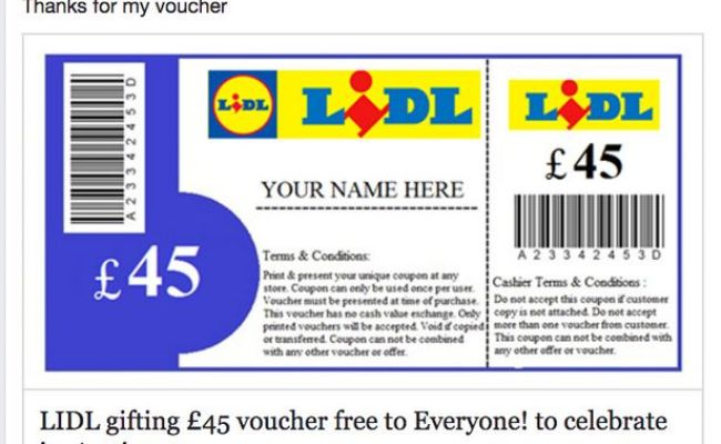 Lidl Gifting 45 Voucher Free To Everyone The Clever