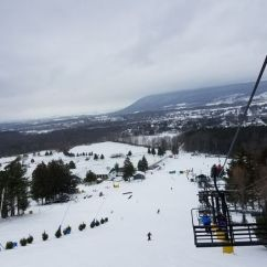 Ski Chair Lift Malfunction Posture Living Room At Popular Tussey Mountain Resort Leaves 20