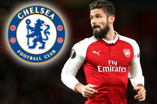 Image result for Chelsea sign Giroud from Arsenal for £18m