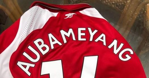 Arsenal fans get Pierre-Emerick Aubameyang number 14 ...